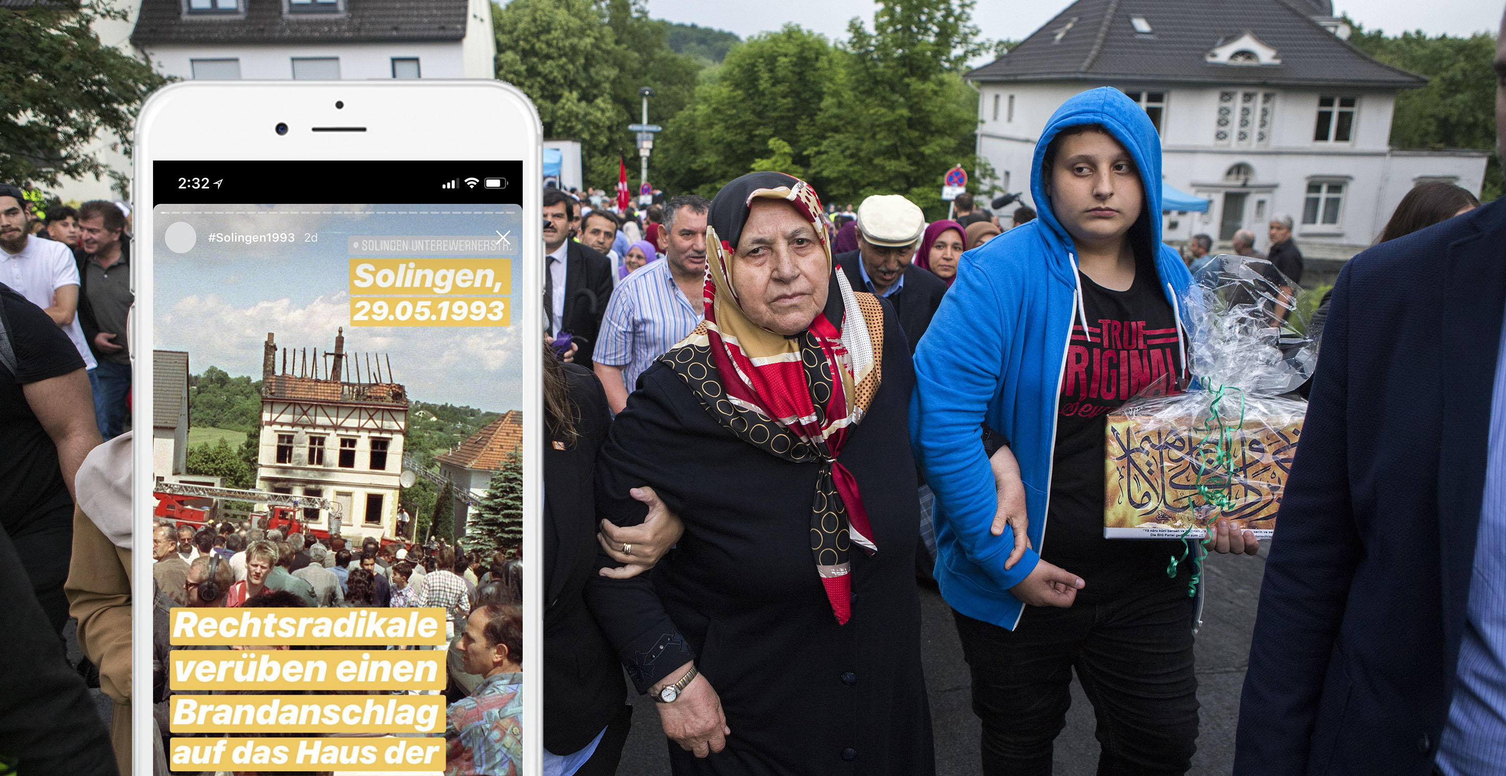 25 Jahre nach Brandanschlag in Solingen: Reportage mit Instagram Stories in Solingen, Foto: Mathias Schumacher
