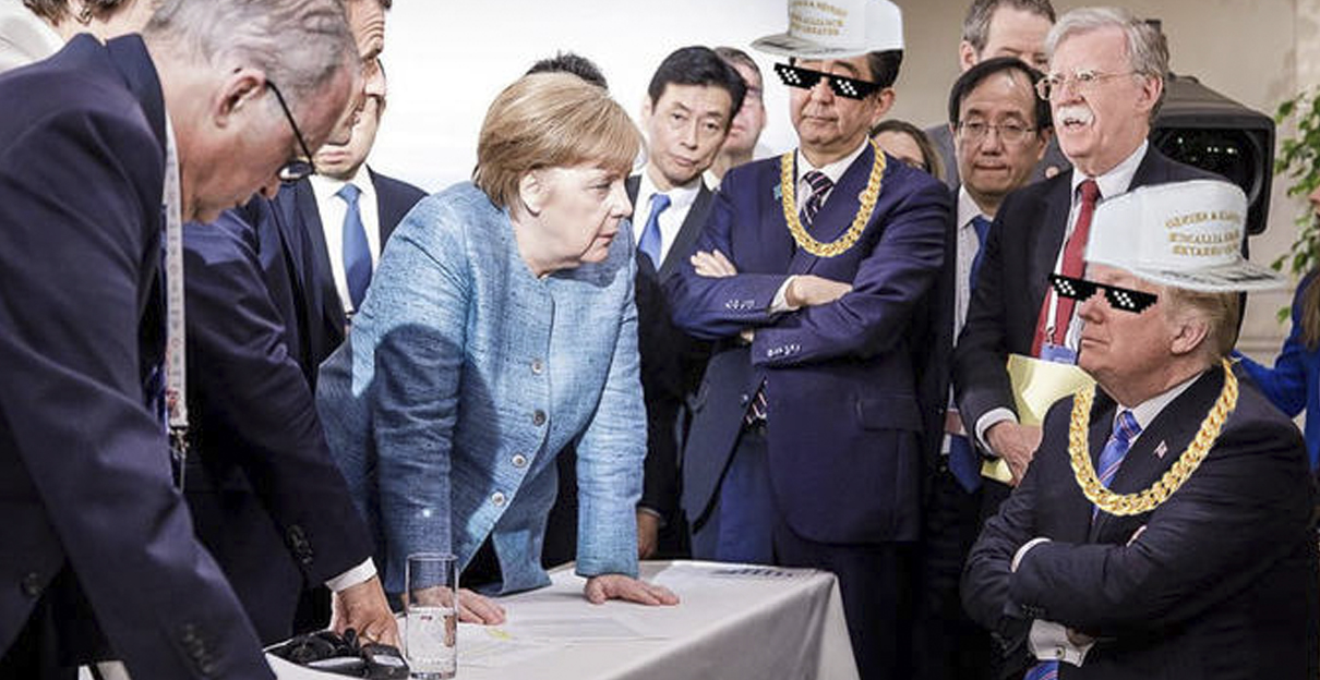 Angela Merkel G7 Meme